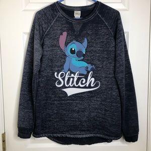 Disney Stitch Sweatshirt Blueish Grey Extra Large